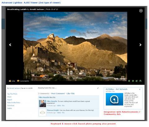 Advanced Lightbox  AJAX Viewer (2nd type of viewer)