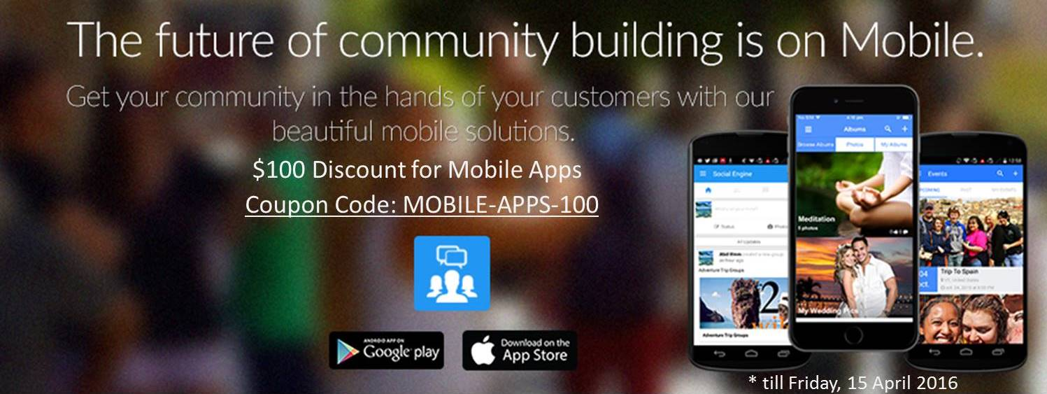 SocialEngine Mobile Apps Discount