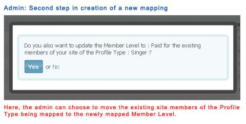 Admin: Second step in creation of a new mapping
