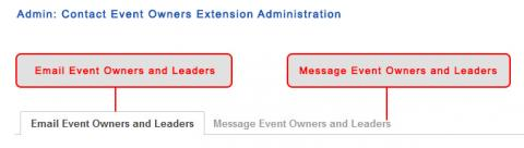 Admin: Contact Event Owners Extension Administration